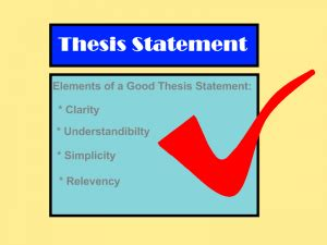 How to write a thesis statement of an argumentative essay